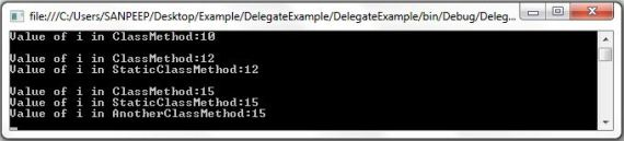 Example of Delegate in C#